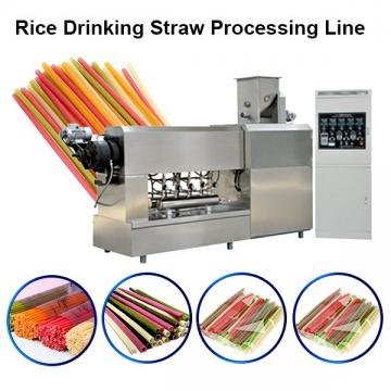 Recycled biodegradable plant drinking straw making machine extruder